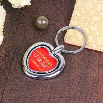 Keyring for Couple with Back Sided View