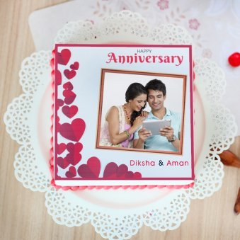 Imperfectly Perfect photo cake for anniversary