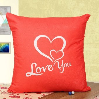 Red love you cushion