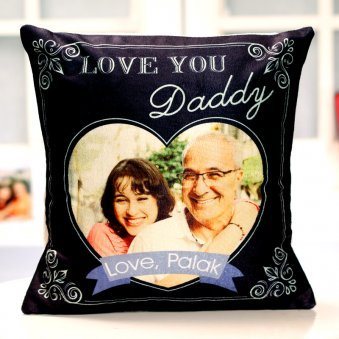 Love You Daddy Fathers day Printed Personalised Cushion