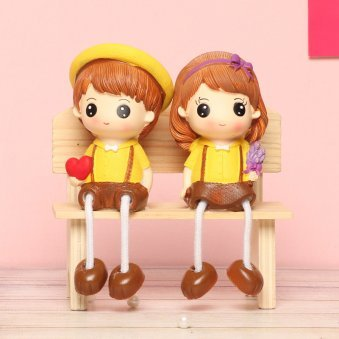 Couple Dolls on Bench