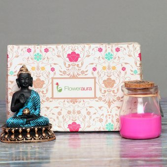 Buddha with Aromatic Candle in a Box