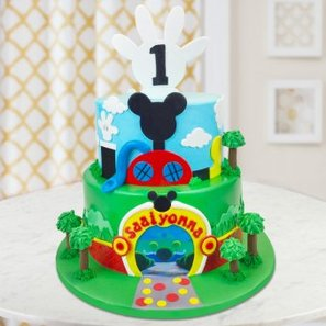 2 Tier Mickey Mouse Birthday Cake for Children