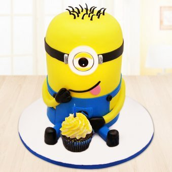 Minion birthday cake for kids