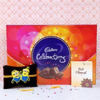 Minion Rakhi and Chocolates Combo for Brother