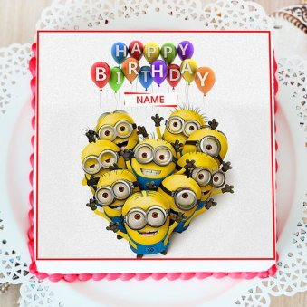 Kids Special Minion Photo Cake