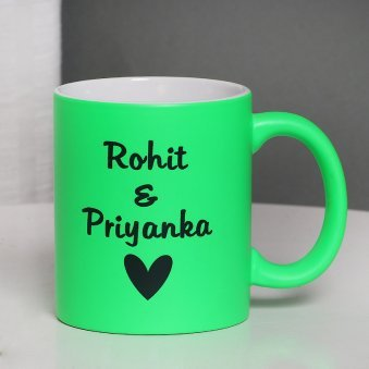 Personalised Green Love Mug