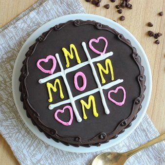 Chocolate Cake for Mom - Top View