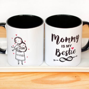 Mommy is My Bestie Mug with Both Side View