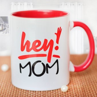 Mom is The Queen Mug with Front Sided View