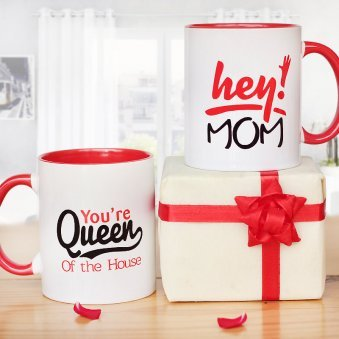 Mom is The Queen Mug with Both Sided View
