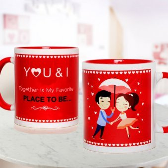 Romance Monsoon Love Mug with Both Sided View