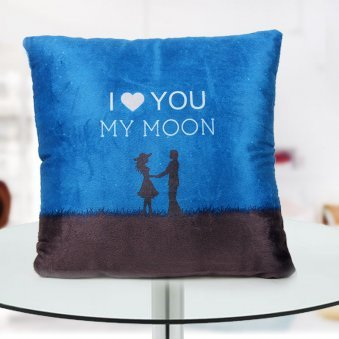"""I Love you my moon"" quoted cushion for love of your life"