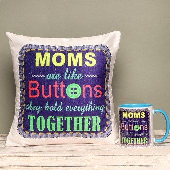 Mother Saga - Gift Hamper of a Cushion and Mug