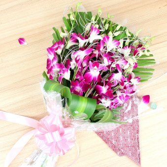 Bunch of 6 Purple Orchids - A gift of Fatherhood Bestowal