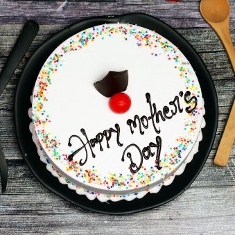 Top View of Happy Mothers Day Cake