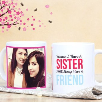 Personalised Mug for Gorgeous Sister with Both Sided View