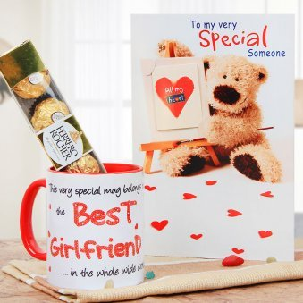 A combo of Card and Mug Along with Ferrero Rochers