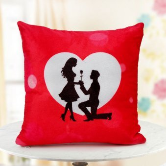 A 12x12 Romantic couple cushion