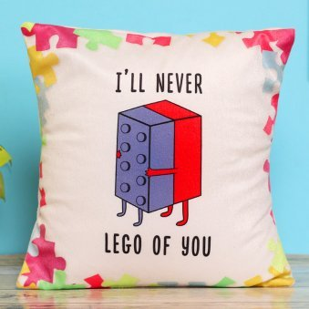 Never Let Go Printed Cushion