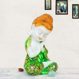 Baby Buddha In Green Dress