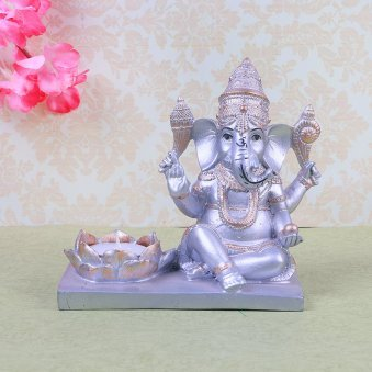 Diya with Ganesh