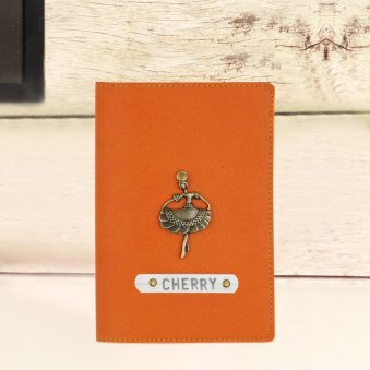Orange Personalised Passport Cover