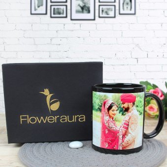 Partners For Life - A Customised Anniversary Mug with Front Sided View with Gift Box