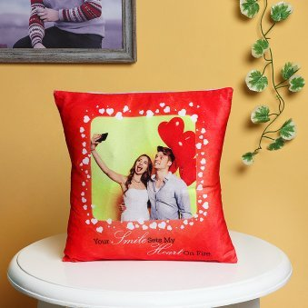 Passionate Affection - A Personalised Love Cushion with Distant View