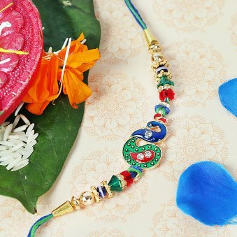 Beautiful Peacock Rakhi