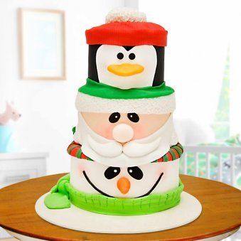 Penguin snowman fondant for kids