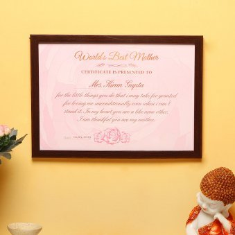 Perfect Woman - A Certificate Gift of Mother