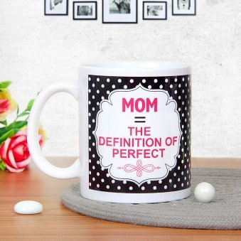 Perfectly Defined Love - A Mug Gift For Mother with Back Sided View