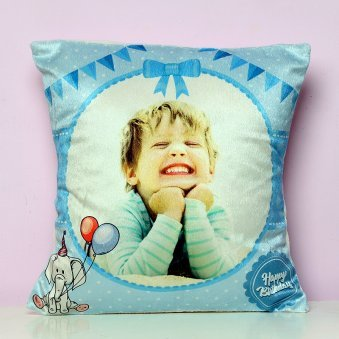 Personalised Blue Cushion for Boys