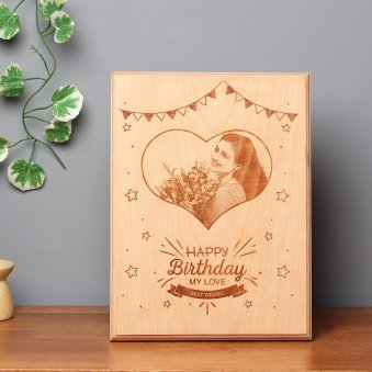 Personalised Birthday Wooden Frame & Birthday Gifts For Wife | Best Birthday Gift Ideas for Your Wife ...