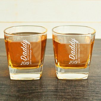 Fathers day Personalised Classy Whisky Glass for Father