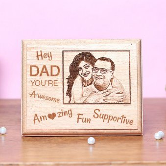 Fathers day Personalised Wooden Frame for Dad