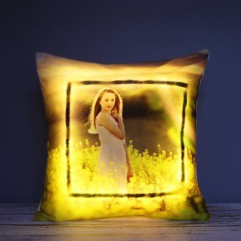 A Personalised LED Photo Cushion