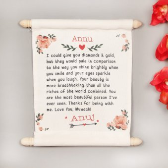 A Personalised Love Scroll