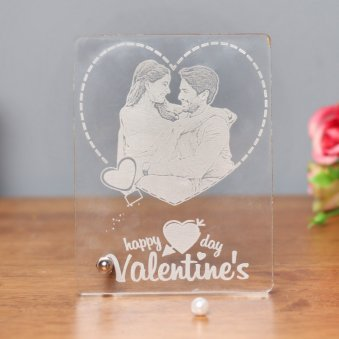 Personalised Glass Frame for Valentines Day