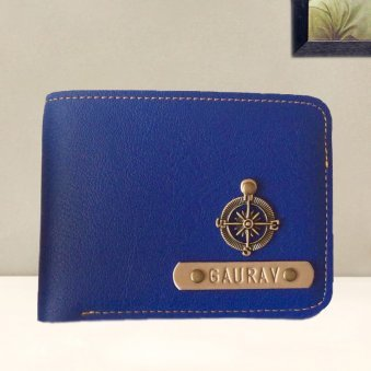 Gents Personalized Navy Blue Wallet