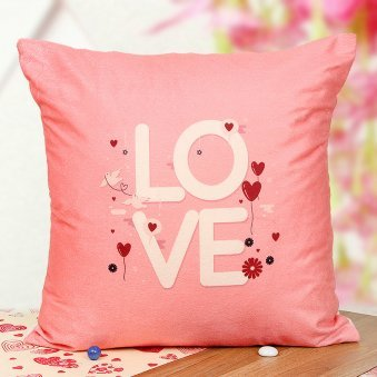 Pink Love Cushion