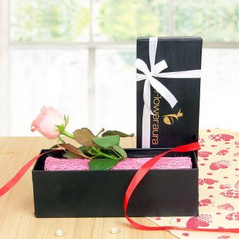 Pink Rose In A Box