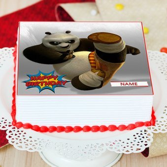 Panda Themed Photo Cake For Children - Zoom View