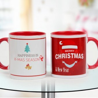 Mug perfectly exemplifying the holiday gala of Christmas and New Year.
