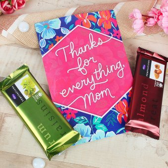 Chocolate and Card Gift Combo for Mom