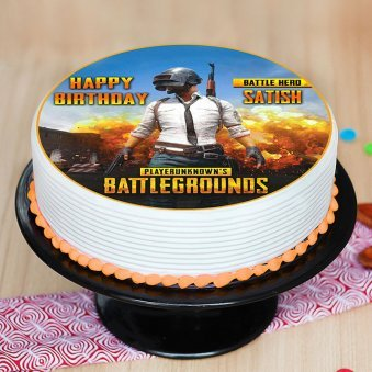 Online Cake Delivery In Bhilai Order For Same Day Midnight - a pubg poster cake 1 2