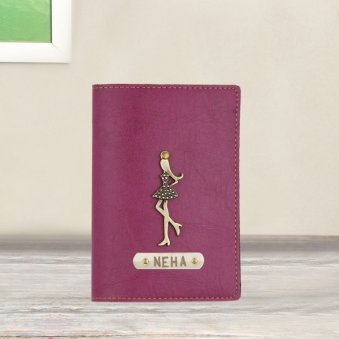Purple Personalised Passport Cover