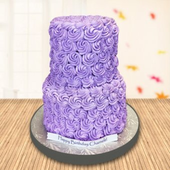 Purple Rose Swirl Cake