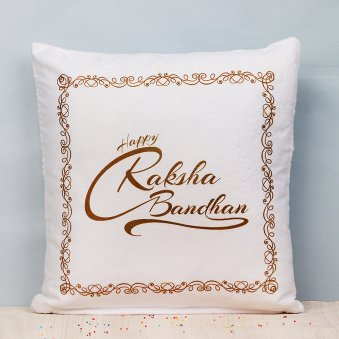 Happy Raksha Bandhan Cushion